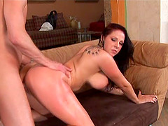 Gianna Michaels takes cum on face..