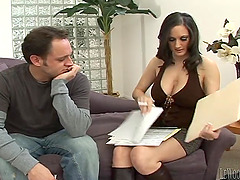 Enticing milf with big tits giving hot..