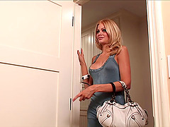 Riley Steele jumps on a weiner after..