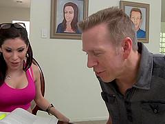 A sexy Latina MILF has an intense..