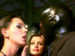 Laly Vallade gets DP pounded in group..