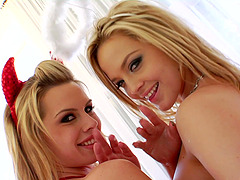 Anal blonde lesbos dildo fucking and..