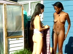 Kinky teens enjoying wild interracial..
