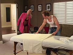 Jesse Jane in bra and panties gets..