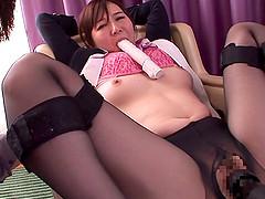 Japanese chubby in lingerie enjoying..