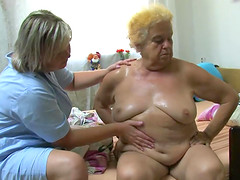 OldNanny Fat big granny have a sex..