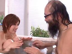 Asian porn star with big natural tits..