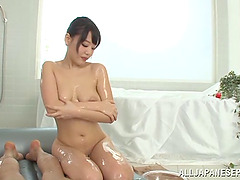 Zestful Japanese babe with natural..