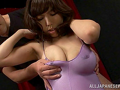 Busty Japanese babe with big tits..