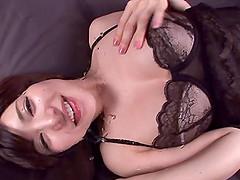 Alluring Asian solo model in lingerie..