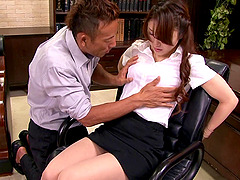 Yura Kasumi gets her cunt toyed, then..