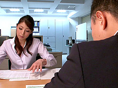 Hina Akiyoshi gets fucked in an office..
