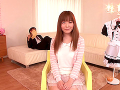 Doting Japanese babe gets a creampie..