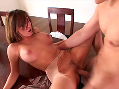 Kinzie Kenner gets cum on tits after..