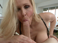 A stacked MILF gives head and lets him..