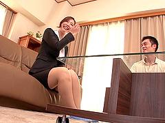 Ai Sayama receives a hot creampie..