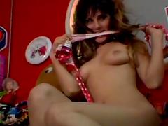 Sunny Leone in polka dot bikini strips..