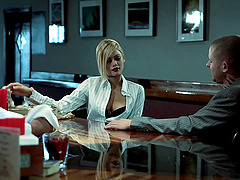 Hardcore sex scene with skinny blonde..