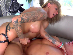 Femdom fetish babe pegging guy with a..