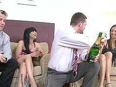 Flirtatious pornstars enjoy fucking..