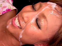 Japanese dame being gangbanged..