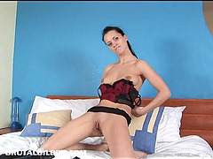 Pussy fingering and dildo banging with..