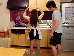 Dazzling Asian redhead getting her..