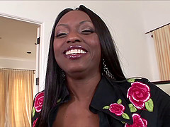 Ebony MILF gets pounded in the ass and..