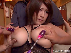 This chubby Asian girl gets gangbanged..
