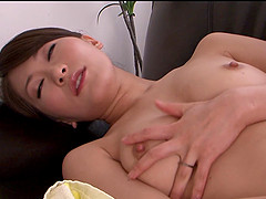 Affectionate Japanese solo model with..