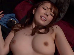Asian babe with gorgeous natural tits..