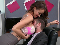 Big cock employee makes the slutty..