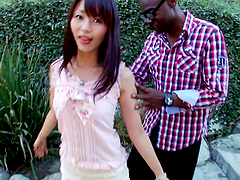 Marica Hase the pretty Japanese babe gets fucked by Black guy