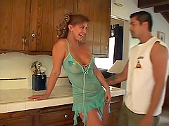Hot Milf Fucked In The Kitchen.