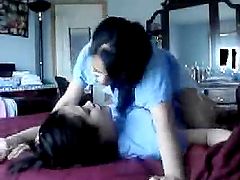 Homemade video of horny asian lesbians..