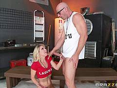 Johny Sins helps out with a..