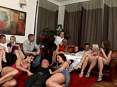 Cocktail party gets wild as sluts in..