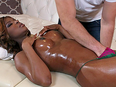 Massage makes Jasmine Webb horny for..