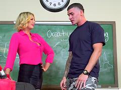 Milf teacher having a private lesson..