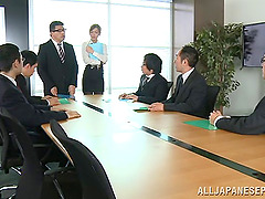 Shy Japanese assistant getting..