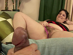 A mature BBW gets fucked hard and her..