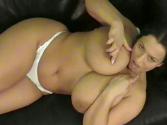 Chubby pigtailed brunette Aneta Buena..