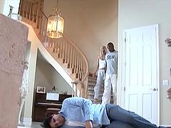 While her husband sleeps a white wife..