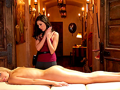 A massage turns into a seduction and..