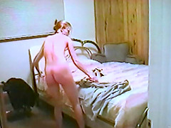 Retro porn with a bathing blonde..