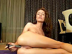 Slim girl creamy squirt with anal d