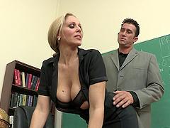 Milf teacher meets a monster cock in..
