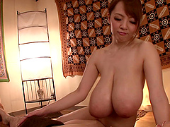 Giant natural Japanese tits smother..