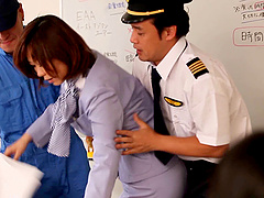 An airline pilot uses toys on her..