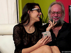 Ass licking porn with a dirty old man..